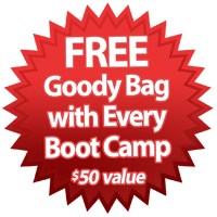 Free Goody Bag with every Boot Camp purchased - $50 value